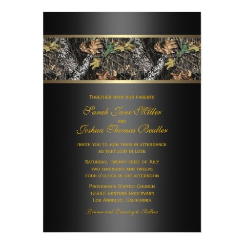 Camo Wedding Invitations Camo Wedding Invitations