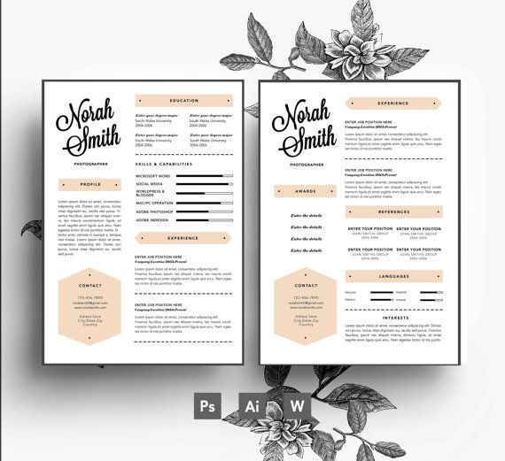 33 best Stylish Resumes images on Pinterest Resume templates - psd resume templates