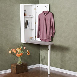@Overstock - Ironing is no longer a chore with this wall-mounted ironing centerMirrored-front laundry station keeps everything conveniently located in one space-saving areaThis cabinet has space to store an iron, starch or water bottlehttp://www.overstock.com/Home-Garden/Wall-mounted-Ironing-Board-and-Storage-Center/4656487/product.html?CID=214117 $177.99