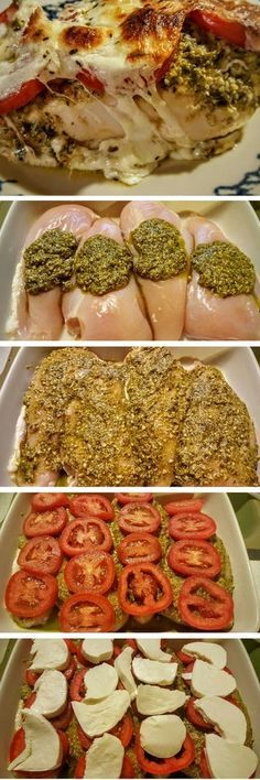 Pesto Baked Chicken More