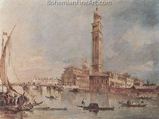 Francesco Guardi, View of the Island of San Pedro di Castello Fine Art Reproduction Oil Painting