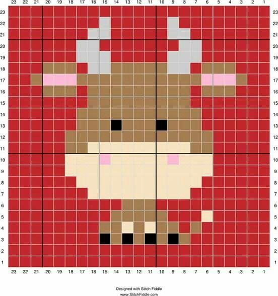 Cow cross stitch. Bull cross stitch.