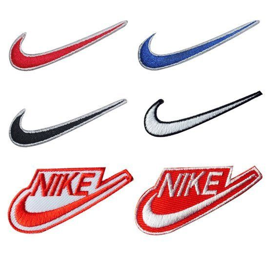 Nike Sports Brand Logo Iron On Sew On Embroidered Patch # BLACK