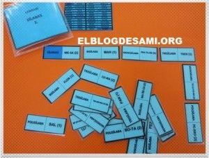 DOMINÓ. CLASIFICACIÓN DE PALABRAS POR EL NÚMERO DE SÍLABAS.2 - El Blog de Sami