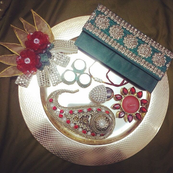 Rakhi platter. product available at : https://www.facebook.com/1stchoicegift