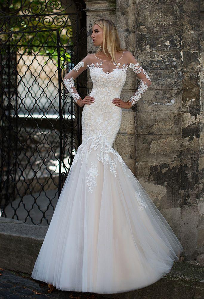 b00dce3ce8a Свадебное платье-рыбка айвори