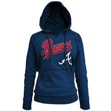 Atlanta Braves Women's Pullover Fleece Hood by 5th & Ocean