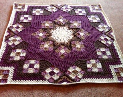 Beautiful Blue Star Afghan: FREE crochet pattern