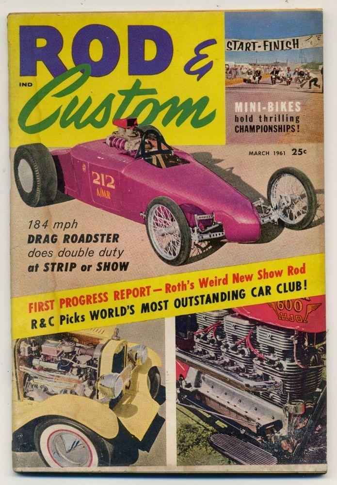 Speed mechanics magazine vtg sept 1953 hot rod drag race custom ...