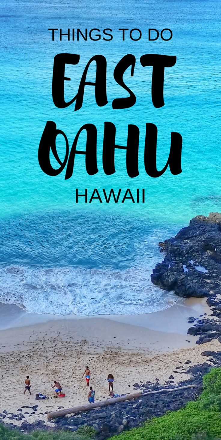 East Oahu, Windward Oahu, Hawaii.  Things to do in Oahu with hiking trails, beaches, snorkeling, temple. Kailua, Lanikai. A little bit away from Honolulu and Waikiki. Part of what to see in Hawaii on a budget with adventure for the best Hawaii vacation in the US! #hawaii #oahu