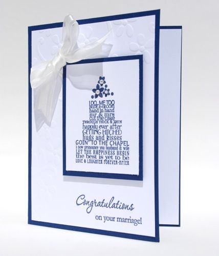#Wedding Cake Congratulations On Your Marriage Handcrafted Card #Blue  | cardsbylibe - Cards on ArtFire #afpounce