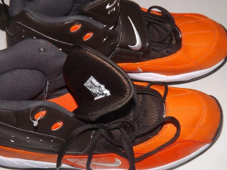 Men's Size 14 Nike Zoom Air High Top Football Cleats New Brown & Orange #Nike