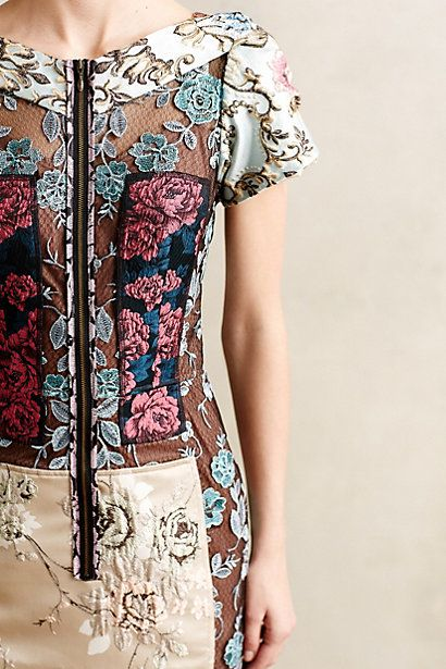 Pieced Brocade Dress by Beguile by Byron Lars #anthrofave