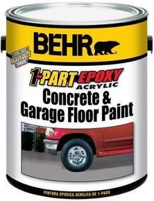 Behr paint for concrete - I wonder if this is a good option in the carport?