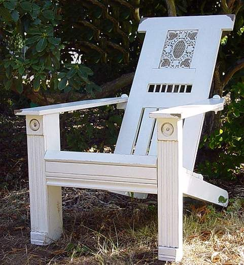 painted adirondack chairs art | Title: Antiqued White Fan Back (Victorian Series #3) [sold]Date ...