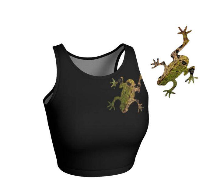 #Athletic #Cropped #Top #Gym #Clothes #Frog #Yoga #Clothing #Festival #Wear #Sportswear #etsy #etsyshop #etsyseller #smallbusiness by WhimZingers on Etsy