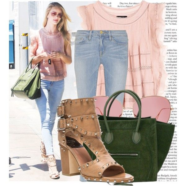 """""""Get The Look: Rosie Huntington-Whiteley"""" by martso on Polyvore"""