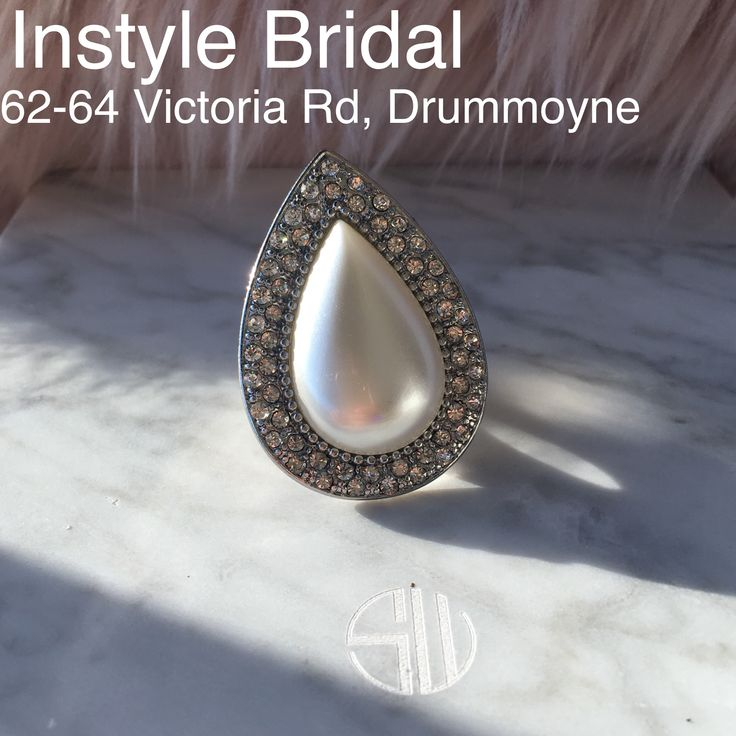 Receive a FREE Samantha Wills Pearl and crystal Bardot ring valued at $129.00, when you spend over $200 in store on Samantha Wills accessories. Available for a limited time only, while stocks last. #samanthawills #samanthawillsbridal #bridaljewellery #instylebridal wedding dress, bride to be, engaged, silver ring