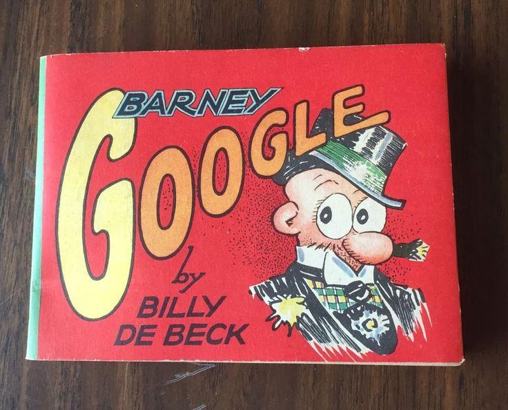 Barney Google Saalfield Big Little Book 1313 1935 Softcover Very Fine