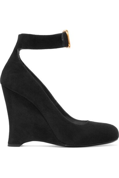 Prada - Suede Wedge Pumps - SALE20 at Checkout for an extra 20% off