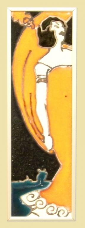 obrazek ceramiczny szkliwiony kobieta - KRAKÓW