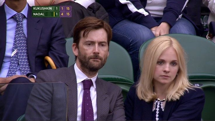 David Tennant At Wimbledon Today. I'd look that bored if I was watching tennis, too. ;)