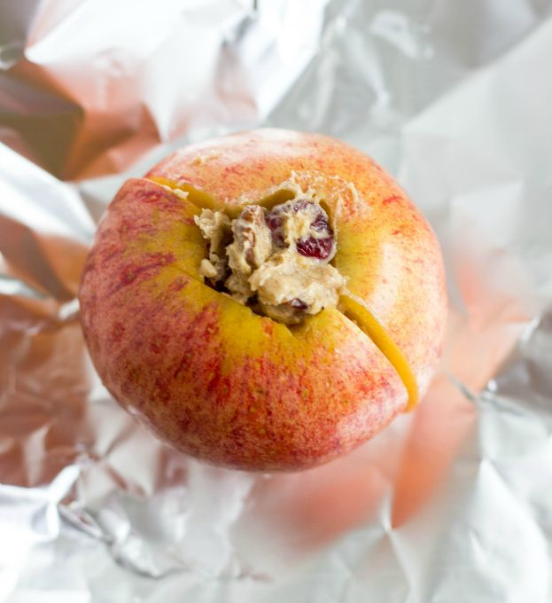 Easy and delicious camping recipe! Stuffed apples with buttery filling (or coconut oil filling for vegans) cooked on the BBQ or camp fire. Can be prepared in advance!