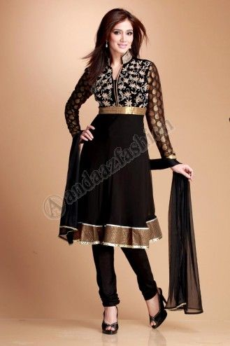 Andaaz online is offering indian churidar suits with various design.This suit has heavy zardozi and diamond zircon embroidery on valvet patch and beautifully embroidered chinese collar including shantoon churidar pajama and viscose dupatta.  http://www.andaazfashion.com.my/salwar-kameez/churidar-suits