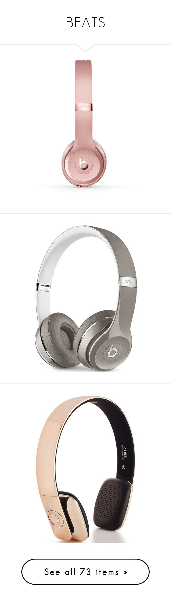 """""""BEATS"""" by missk2blue ❤ liked on Polyvore featuring accessories, tech accessories, beats by dr dre headphones, beats by dr. dre, luxe silver, metallic gold, wraps headphones, electronics, fillers and music"""