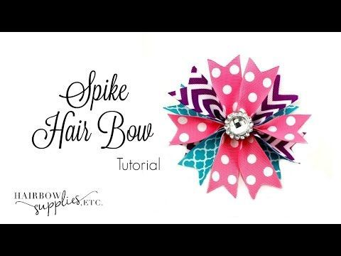 Flower Loop Hair Bow Tutorial - Hairbow Supplies, Etc. - YouTube