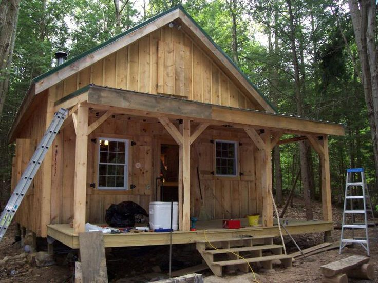 Diary Of A 20x24 Cabin Going Up In Nh Camp Exterior