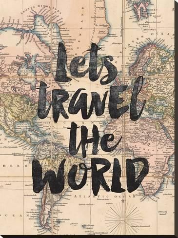 Lets Travel The World BWBy Brett Wilson – Art.com