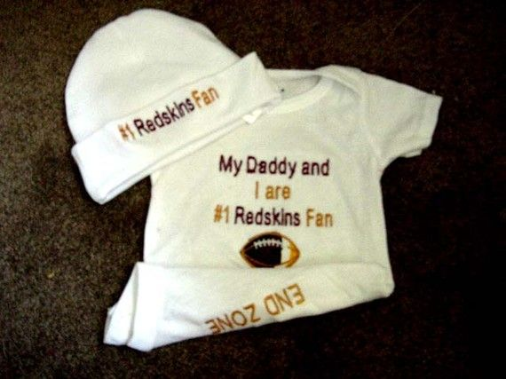 Washington Redskins Football Baby Infant by Embroideryworld, $28.99