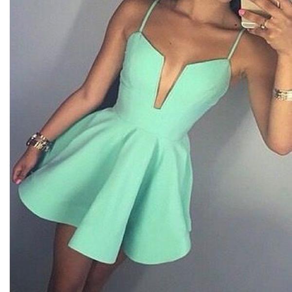 Sexy minzgrünes Kleid