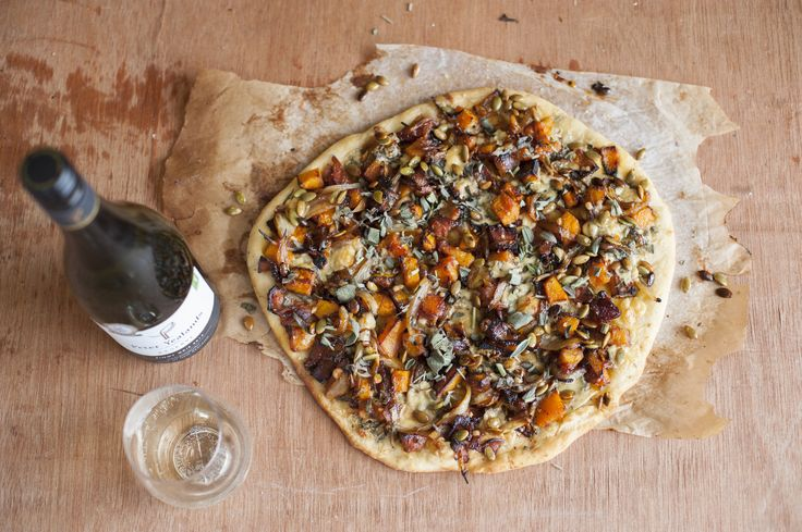 Roasted Butternut, Cider and Bacon Pizza
