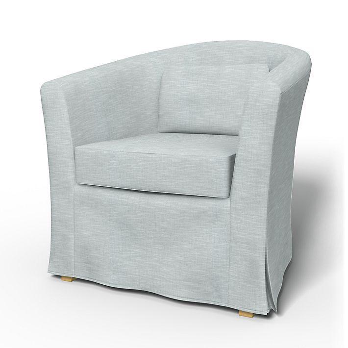 Tullsta, Armchair Covers, Armchair, Regular Fit using the fabric Tegnér Melange Silver Grey
