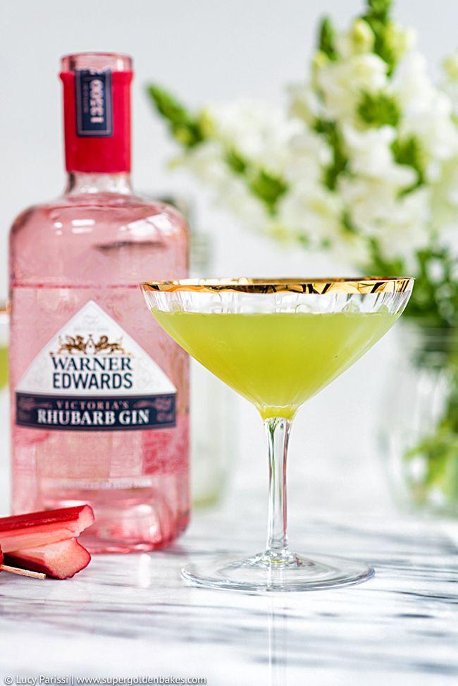 Rhubarb Cucumber Martini