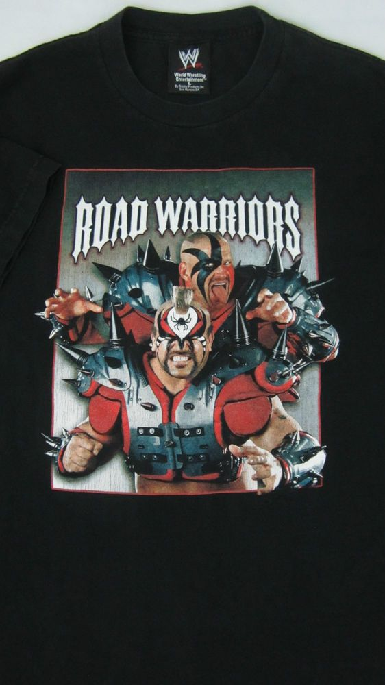 THE ROAD WARRIORS WWF WWE WRESTLING WRESTLEMANIA 22 T SHIRT LARGE ...