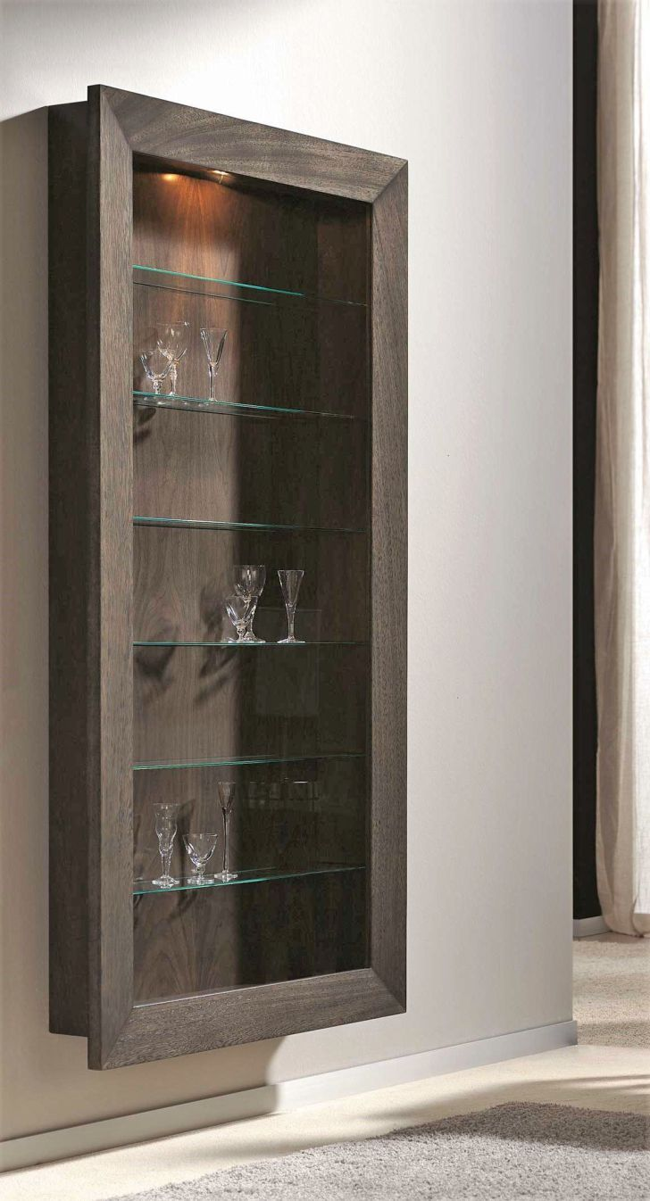 Amazing Shallow Depth Wall Hanging Display Cabinet Pics For Trends