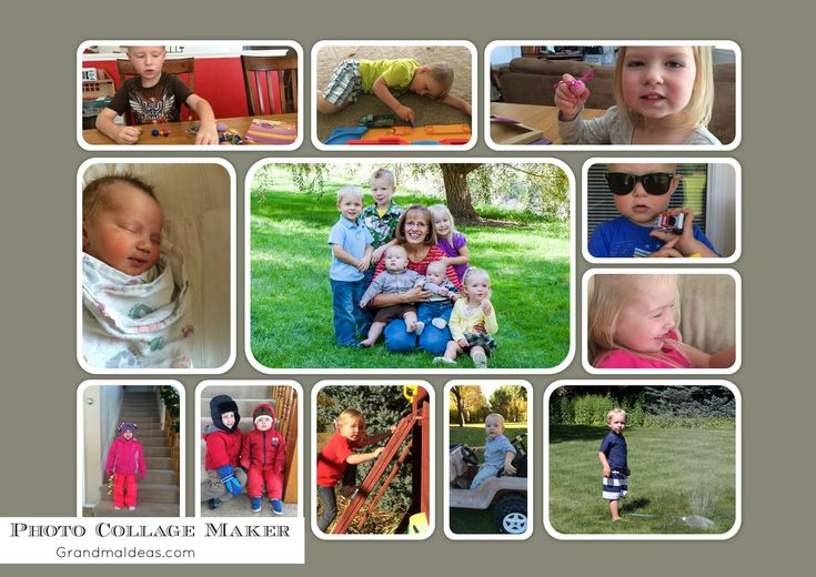 Picture Collage Maker is a great software for making photo collages, calendars, cards, photo books, posters, scrapbook page, and even a label for a DVD.  GrandmaIdeas.com