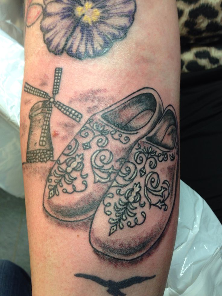 Dutch shoes tattoo bandit ink sweet tattoos pinterest