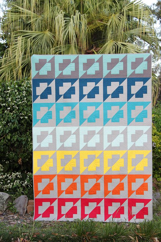 A new quilt pattern from Kirsty at Bonjour Quilts called The Plus Side. FQ and F8 friendly and so easy to put together, this pattern comes with a printable colour-in template to test all your colour combination and placement ideas. Comes with instructions for 6 different sizes - from Baby Mat to King Sized.