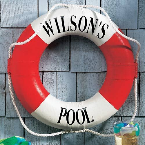$30 at Walmart; wall decor for nautical room: Families Pools, Walmart Com, Gifts Ideas, Personalized Gifts, Preserves Rings, Life Preserves, Personalized Pools, Pools Rings, Personalized Families