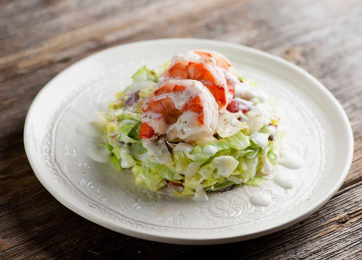 Pressed Wedge Salad with Shrimp - Framed Cooks