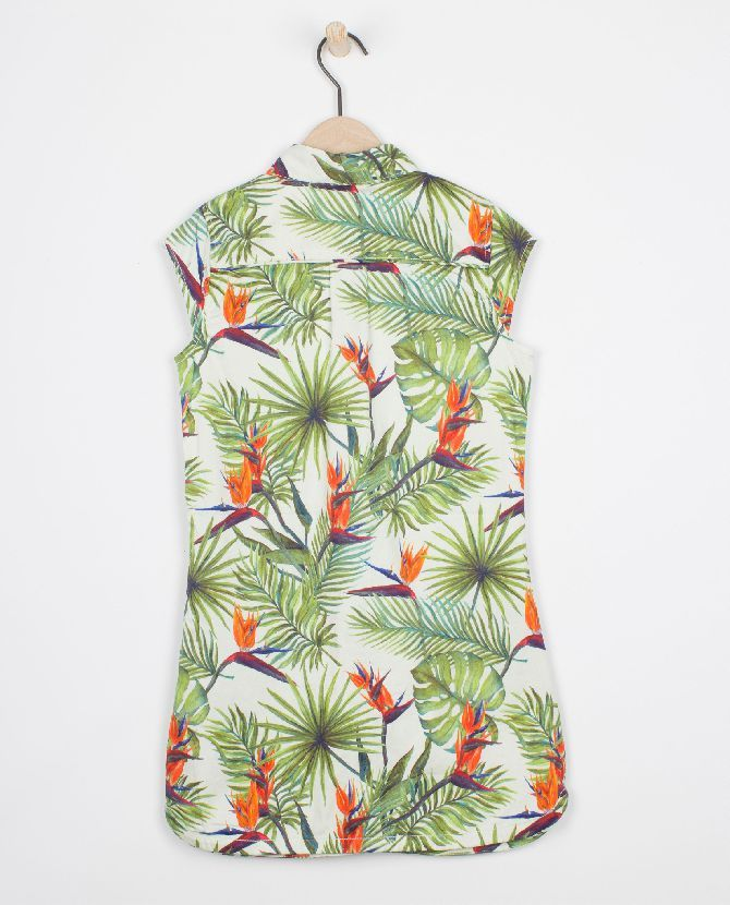 Robe safari avec impression tropicale - JBC Webshop BE - FR