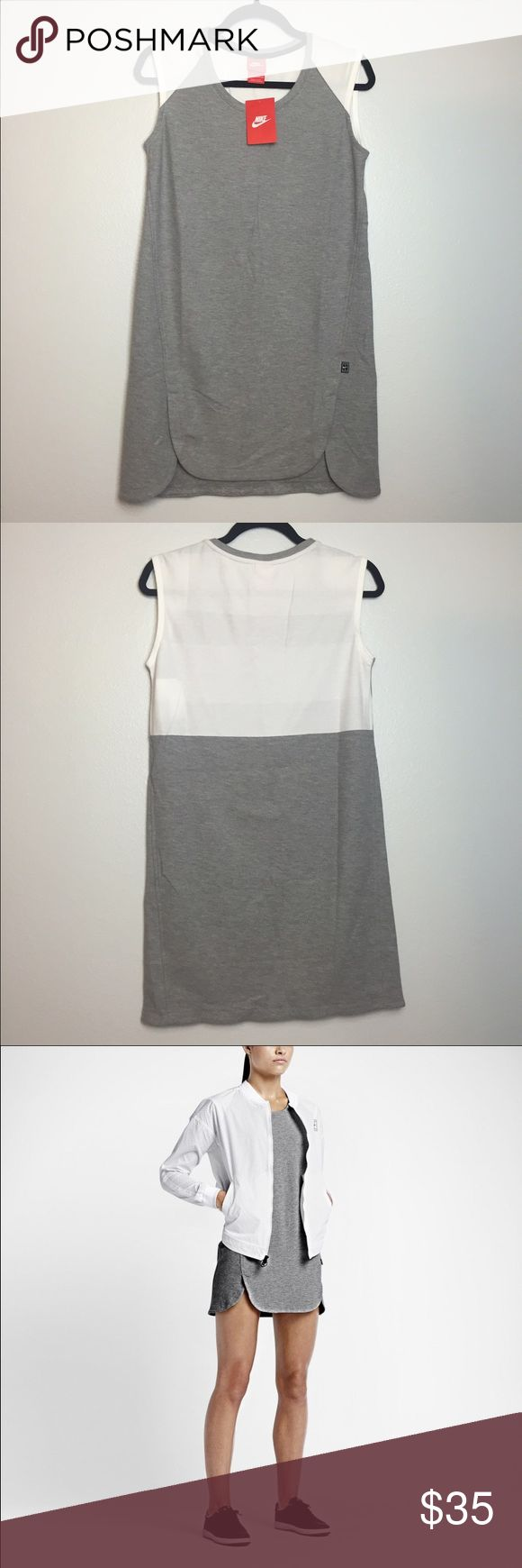 Nike Tennis Dress NWT Can be worn as athleisure with sneakers, very cute! Size is XS but looks like it would fit an S too. It is still too small for me however (I'm a medium). Price is negotiable. Nike Dresses