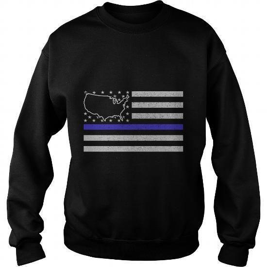 United States Thin Blue Line Police State TShirt