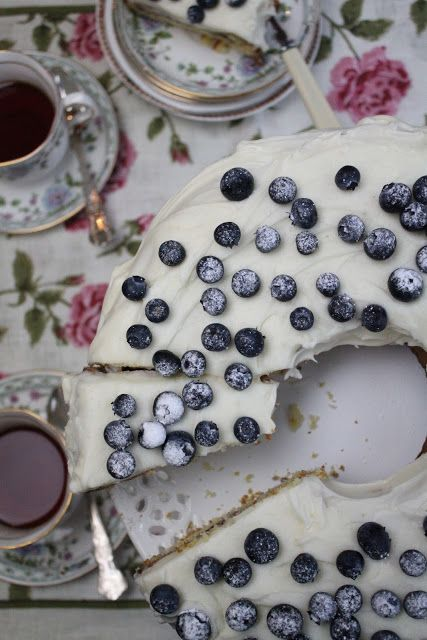 Nessa's Family Kitchen - Blueberry Yogurt Cake