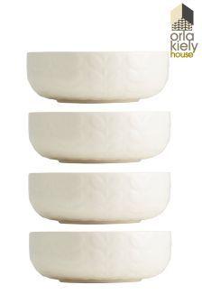 4件組Orla Kiely花紋陶瓷麥片碗