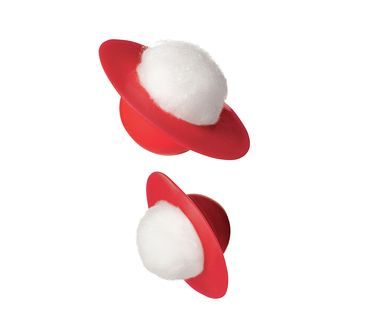 Cotton ball holder to remove a pedicure without messing up a manicure.